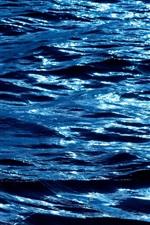 미리보기 iPhone 배경 화면 푸른 물, 파도, 황혼