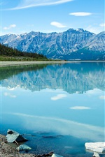 Preview iPhone wallpaper Canada, beautiful lake, clear water, mountains, clouds, blue sky