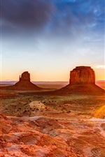 Preview iPhone wallpaper Canyon, desert, rocks, sunset, USA