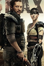 Preview iPhone wallpaper Charlize Theron, Tom Hardy, Mad Max: Fury Road