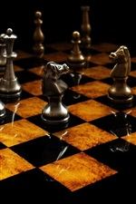 Preview iPhone wallpaper Chess, metal