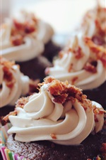 Preview iPhone wallpaper Chocolate cupcakes, cream