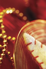 Preview iPhone wallpaper Christmas decorations, beads, gold style