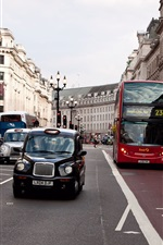 Preview iPhone wallpaper City street, road, cars, people, buildings, London