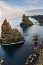 Preview iPhone wallpaper Coast, sea, cliff