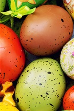 Preview iPhone wallpaper Colorful eggs close-up, Happy Easter