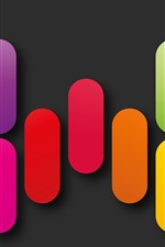 Colorful geometric shapes, rainbow colors, abstract