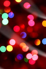 Preview iPhone wallpaper Colorful lights, circles, night