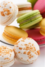 Preview iPhone wallpaper Colorful macaron cookies, cakes
