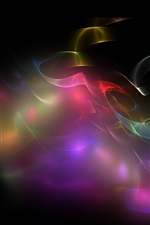 Preview iPhone wallpaper Colorful smoke, abstract picture