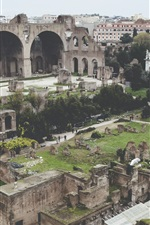 Preview iPhone wallpaper Colosseum, Rome, ruins, ancient city, travel place