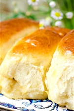 Preview iPhone wallpaper Delicious bread, flowers