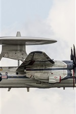 Preview iPhone wallpaper E-2C Hawkeye radar plane