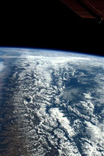 Preview iPhone wallpaper Earth, clouds, space