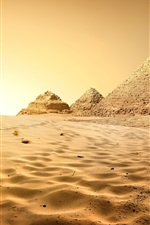 Preview iPhone wallpaper Egypt, Cairo, pyramid, desert