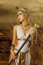 Egypt girl, desert