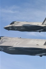 Preview iPhone wallpaper F-35B bombers, Lightning II