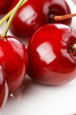 Fresh cherries, red, fruit close-up