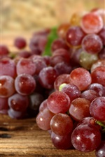 Preview iPhone wallpaper Fresh red grapes, harvest, water drops