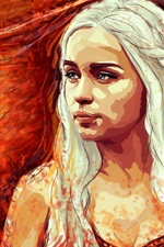 Preview iPhone wallpaper Game of Thrones, Emilia Clarke, art picture