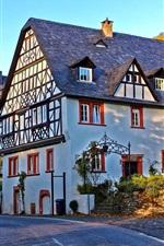 Germany, houses, villa, trees, sunshine
