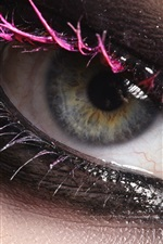 Preview iPhone wallpaper Girl eye macro photography, makeup