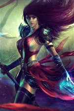 Preview iPhone wallpaper Guild Wars 2, beautiful girl, magic