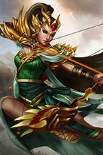 Heróis de Newerth, arqueiro, menina, flechas, arco