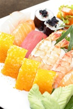 Preview iPhone wallpaper Japanese cuisine, rolls, sushi, food