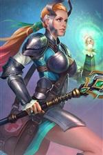 Preview iPhone wallpaper Juggernaut Wars, girl, warrior