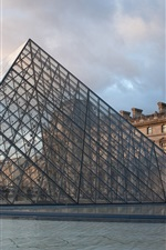 Preview iPhone wallpaper Louvre, glass pyramid, museum, buildings, France, Paris