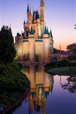 Magic Kingdom, Disney Castle, Disneyland, morning