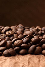 Preview iPhone wallpaper Many coffee beans, grain