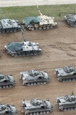 Preview iPhone wallpaper Many tanks, British Army