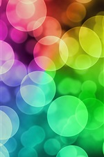 Preview iPhone wallpaper Multi colored circles, glare, abstraction