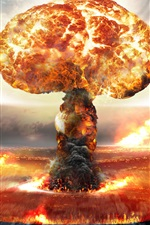 Preview iPhone wallpaper Nuclear bomb explosion, mushroom cloud