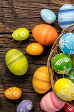 Preview iPhone wallpaper One basket colorful eggs