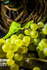 Preview iPhone wallpaper One bunch green grapes, fruit