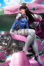 Preview iPhone wallpaper Overwatch, girl, robot, Blizzard