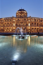 Preview iPhone wallpaper Paris, France, landmark architecture, fountain, night, lights