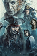 Preview iPhone wallpaper Pirates of the Caribbean 2017