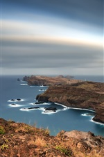 Preview iPhone wallpaper Portugal, Madeira, Islands, coast, sea, dusk