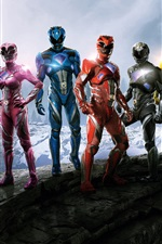 Preview iPhone wallpaper Power Rangers 2017 movie HD