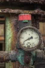 Preview iPhone wallpaper Pressure gauge, pipe, rusty
