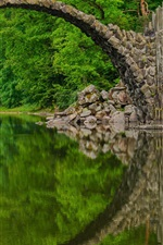 Preview iPhone wallpaper Rakotz Bridge, Devil's Bridge, Park, Saxony, Germany