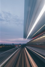 Road, high speed, lines, city