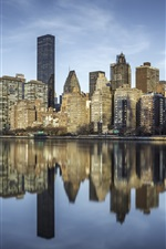 Roosevelt Island, New York City, arranha-céus, East River, EUA