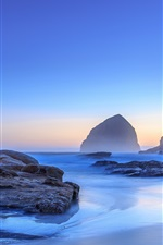Preview iPhone wallpaper Sea, coast, stones, morning