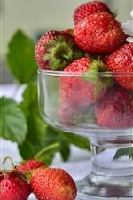 Strawberries, glass cup
