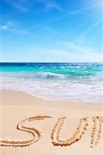 Preview iPhone wallpaper Summer, beach, sea, clouds, sun